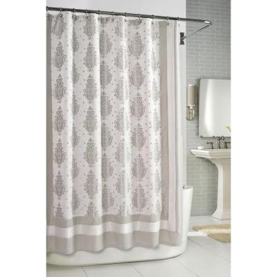 Home Decorators Collection Roma Taupe 72 in. W Shower Curtain