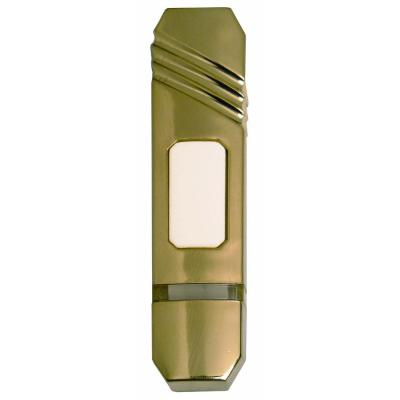 Heath Zenith Wireless Battery Operated Satin Brass Push Button-DISCONTINUED