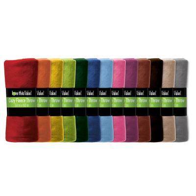 24 Pack Super Soft Fleece Blankets 50 x 60
