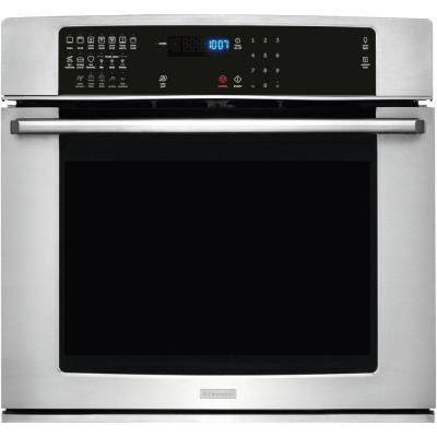 IQ-Touch 27 in. Single Electric Wall Oven Self-Cleaning with Convection in