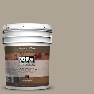 BEHR Premium Plus Ultra Home Decorators Collection 5-gal. #HDC-NT-14 Smoked Tan Flat/Matte Interior Paint