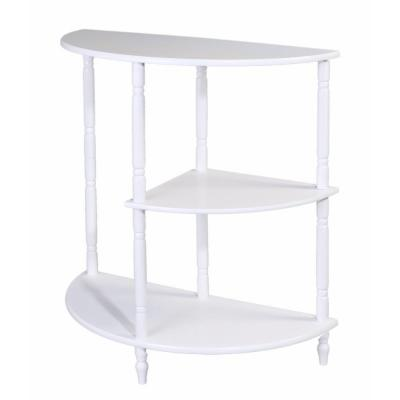 White Multi Tiered End Table Product Photo