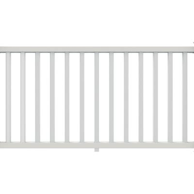 null 6 ft. x 36 in. Select White Vinyl Rail Kit with Square Balusters