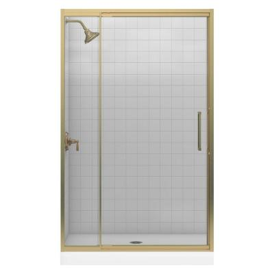 Lattis 48 in. x 76 in. Framed Pivot Shower Door in