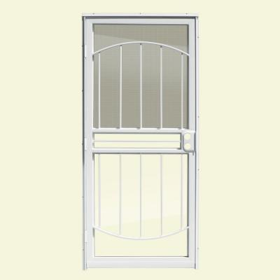 36 in. x 80 in. Arbor White Recessed Mount All Season