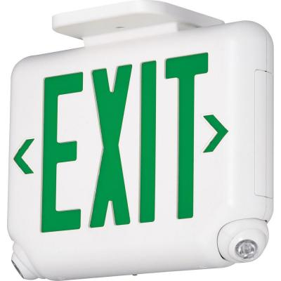 2-Light Thermoplastic LED Emergency Unit/Exit Combo