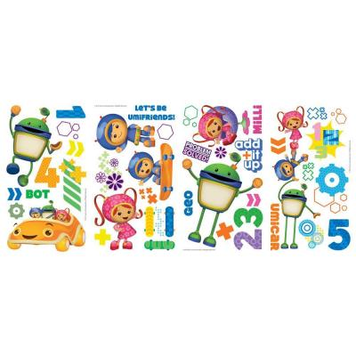 null 10 in x 18 in. Team Umizoomi 45-Piece Peel and Stick Wall Decals