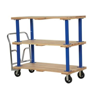 27 in. x 54 in. Triple Deck Hardwood Platform Cart Product Photo