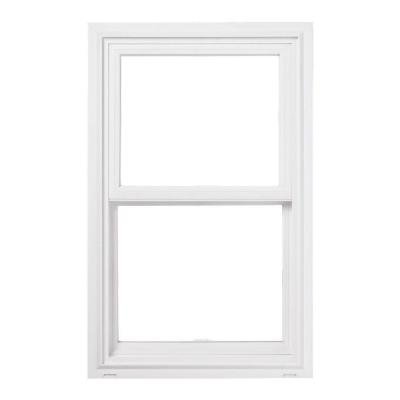 JELD-WEN 29.5 in. x 59.5 in. V-2500 Series Double Hung Vinyl Window - White