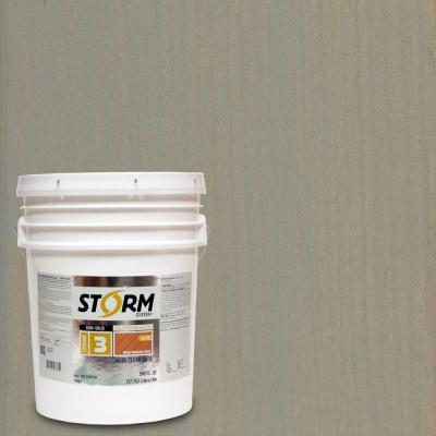 Storm System 5 gal. Mystic Gray Exterior Semi-Solid Dual Dispersion Wood Finish