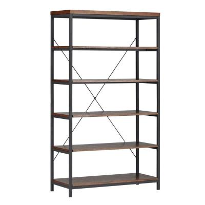 Touchard 5-Shelf Bookcase in Brown Product Photo