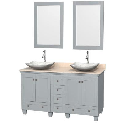 Acclaim 60 in. W x 22 in. D Vanity in Oyster