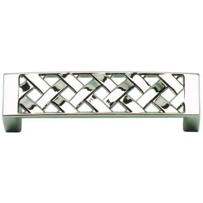 Atlas Homewares Lattice Collection 3.3 in. Polished Nickel Pull