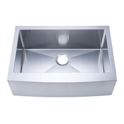 NationalWare Apron/Farmhouse Stainless Steel 30 in. Single Bowl Kitchen Sink in