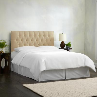Linen Sandstone Queen Diamond Tufted Headboard