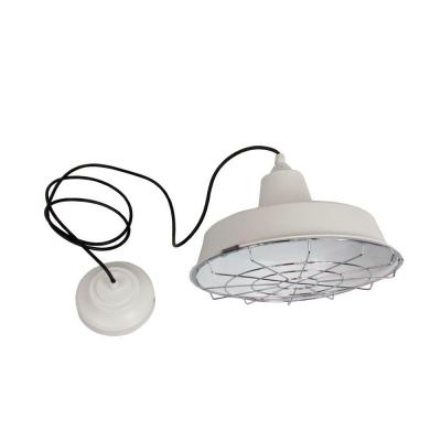 Commercial Electric 1-Light White LED Utility Pendant