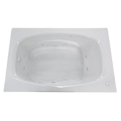 Tiger's Eye 5.5 ft. Whirlpool and Air Bath Tub in White
