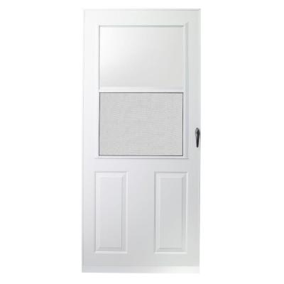 EMCO 32 in. x 80 in. 200 Series White Traditional Storm Door