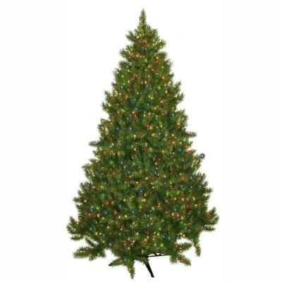 General Foam 7.5 ft. Pre-Lit Carolina Fir Artificial Christmas Tree with Multi-Colored Lights