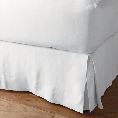 Solid Washed 14 in. Linen Bed Skirt