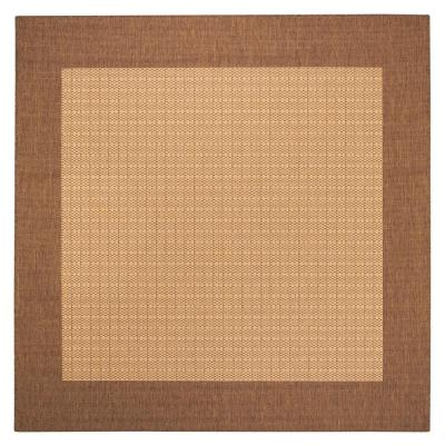 Home Decorators Collection Checkered Field Natural 8 ft. 6 in. Square Area Rug