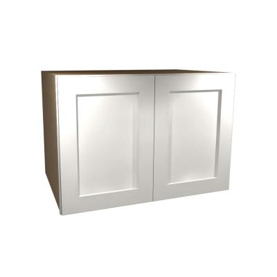 Home Decorators Collection 30x24x24 in. Newport Assembled Wall Double Door Cabinet in Pacific White
