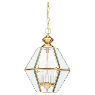 Sea Gull Lighting Grandover 3-Light Polished Brass Hall Foyer Pendant 5116-02
