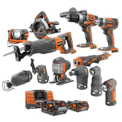 RIDGID X4 18-Volt Lithium-Ion Cordless Ultimate Contractor Kit (13-Piece)