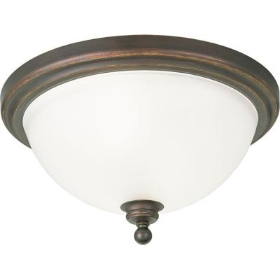 Progress Lighting Madison Collection 2-Light Antique Bronze Flushmount-DISCONTINUED