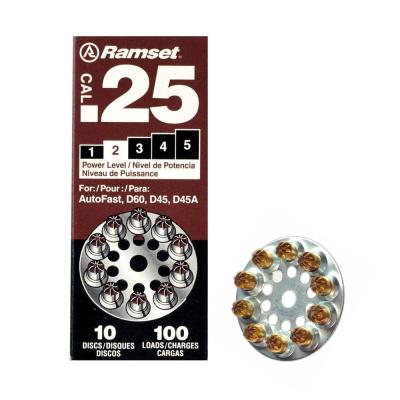 Ramset 0.25 Caliber Brown Disc Powder Loads for Ramset Tools (100-Pack)