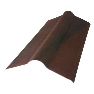 2-23/24 ft. x 19.5 in. Siena Brown Composite Standard Ridge Cap Product Photo