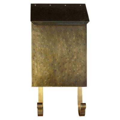 Antique Brass Wall Mount Non-Locking Brass Mailbox Product Photo