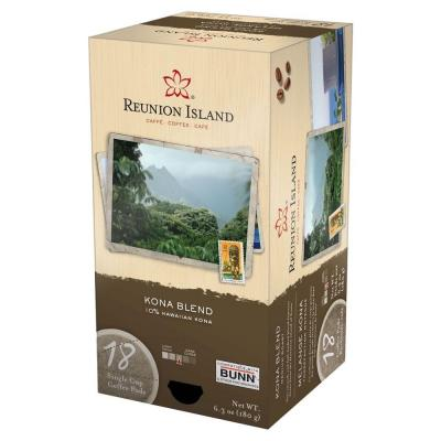 Reunion Island Kona Blend Single Cup Coffee Pods, 18-count-DISCONTINUED
