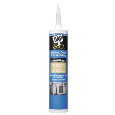 Dap 3 Crystal Clear Window Door Trim And Siding Sealant 18362 The Home Depot