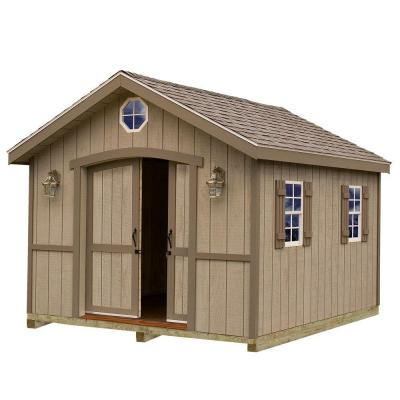 Cambridge 10 ft. x 16 ft. Wood Storage Shed Kit with Floor including 4 x 4 Runners Product Photo