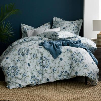 Sussex Medallion Wrinkle-Free 300-Thread Count Sateen Duvet Cover