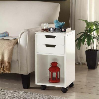Home Decorators Collection Mobile Storage Cart 2-Drawer and Cubby on Wheel..