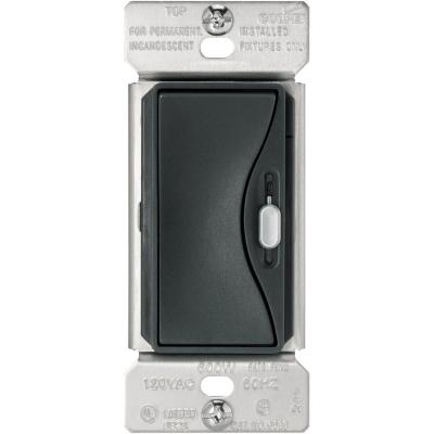 Aspire 600-Watt Slide Dimmer with Preset - Silver Granite Product Photo