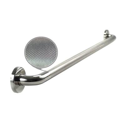 WingIts Premium Series 42 in. x 1.25 in. Diamond Knurled Grab Bar in Polished Stainless Steel (45 in. Overall Length)