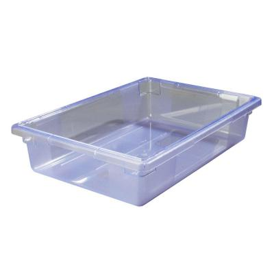 8.5 gal., 18x26x6 in. Polycarbonate Food Storage Box in Translucent Blue (Case of 6) Product Photo