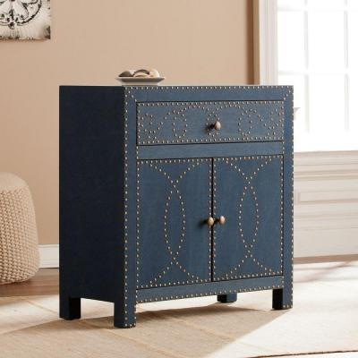 Elna Double-Door Storage Cabinet in Navy