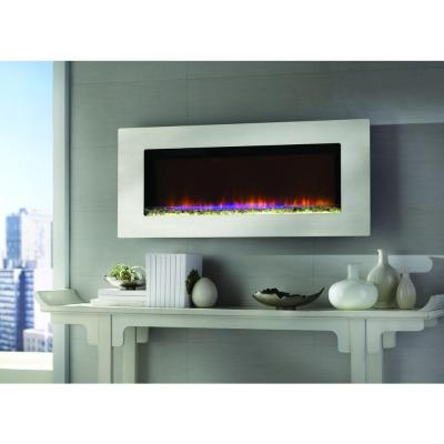 Home Decorators Collection Mirador 46 In Wall Mount Electric Fireplace In Stainless Steel