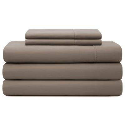 Brookside Solid 600-Thread Count Cotton Blend Sheet Set
