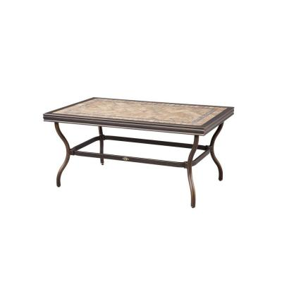 Hampton Bay Westbury Tile Top Patio Coffee Table
