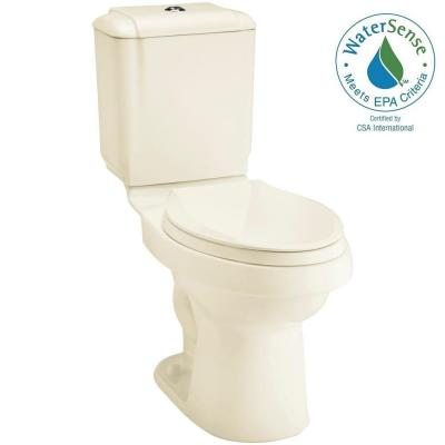Rockton 2-piece 0.8 or 1.6 GPF Dual Flush Elongated Toilet in