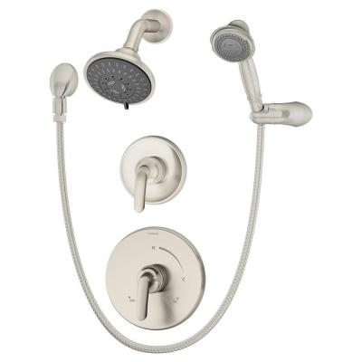 Elm 2-Handle Shower Faucet with Handshower in Satin Nickel Product Photo