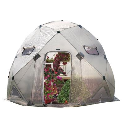 FlowerHouse DomeHouse 158 in. W x 158 in. D x 120 in. H High Pop-Up Greenhouse