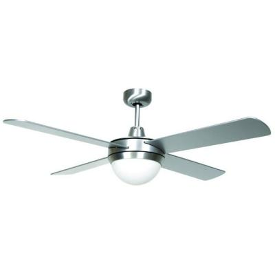 Hampton Bay Futura Eco 52 in. Aluminum Downrod Ceiling Fan with 4 Plywood Blades and Single Glass