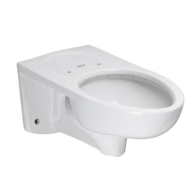 Afwall FloWise EverClean 1.1 GPF Elongated Toilet Bowl Only and Back Spud Flushometer in White Product Photo