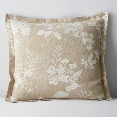 Botanical Floral Textured Cotton Blend Sham